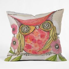 pillow anyone? DENY Designs Cori Dantini Polyester Miss Goldie Indoor/Outdoor Throw Pillow Modern Throw Pillows, Outdoor Throw Pillows, Decorative Throw Pillows, Floor Pillows, Accent Pillows, Owl Pillows, Cushions, Burlap Pillows, All Modern