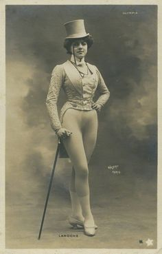 French Raymonde de Laroche by Walery, when she was an actress and singer, before she was the first woman in the world to get a pilot license-aviator in 1910. 1882-1919