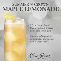 Crown royal maple collins drink and food recipes pinterest crown royal maple lemonade summer of crown forumfinder Images