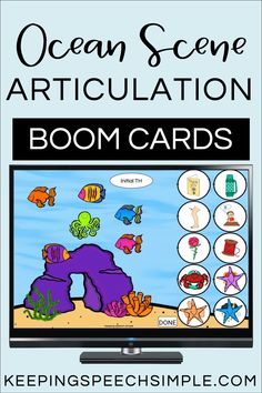 Engage your articulation students with this interactive ocean themed digital resource. Use during teletherapy, distance learning or in person speech sessions. This no print download contains most phonemes in all positions, includes blends and vocalic R. Use this fun, speech therapy activity with preschool, kindergarten and elementary students. Can be used with ocean themes, summer or year round. Effective and easy to use!