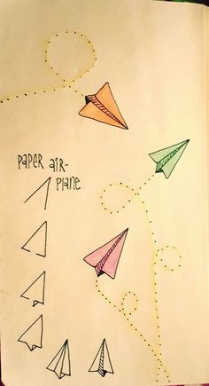 | Paper airplanes are fun to draw