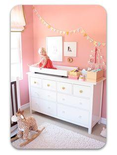 cool huge dresser! #nursery #dresser #white