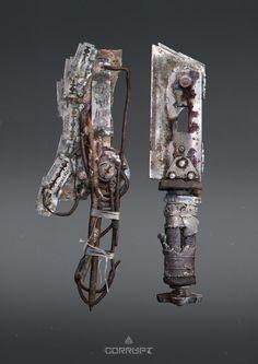 ArtStation - Post apocalyptic melee weapons, Anton Kuhtitskiy