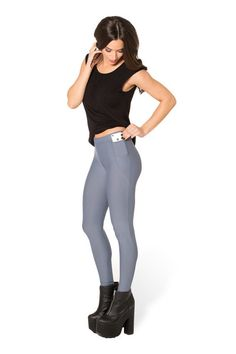 $40 Matte Grey Pocket Leggings › Black Milk Clothing