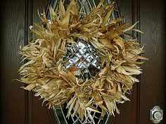 Corn Husk Wreath - Chickens in the Road