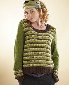 FREE PATTERN Slip Stitch Sweater by Lisa Richardson in Rowan Lenpur Linen DK (discontinued)