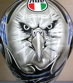 Hand Painted AGV Kart Helmet #137 ~ Hand Painted Helmets - Design your helmet today..!!