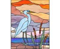 Blue heron 1 stained glass pattern of a blue heron [0]$2.50 | PDQ Patterns