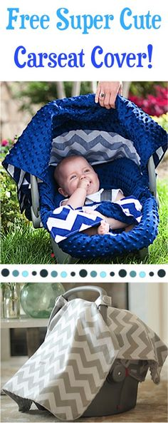 FREE Super Cute Carseat Cover Sale! {just pay s/h} ~ these make fun gifts for Baby Showers, too!!