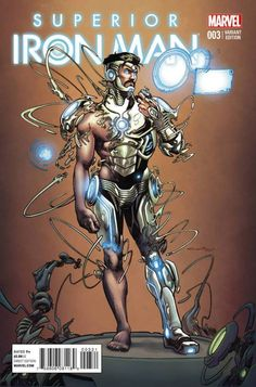 Superior Iron Man variant cover by Yildiray Cinar * Arte Dc Comics, Marvel Comics Art, Marvel Comic Universe, Marvel Comic Books, Marvel Characters, Marvel Heroes, Marvel Avengers, Iron Man Kunst, Iron Man Art