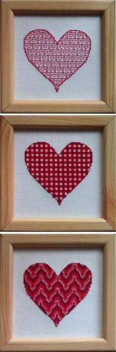 bargello heart needlepoint        pattern | Free Bargello Cross Stitch Valentine's Heart Pattern