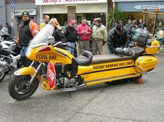 This bike was built on a Canadian TV show called Patent Bending.    At the beginning of the episode they were planning to build an amphibious motorcycle. But they found out it had alread been done. So they decide to build the Venture school bus. Then present it at the Friday the 13th gathering in Port Dover Ontario.