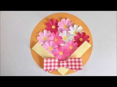 Diy And Crafts, Paper Crafts, Kindergarten Crafts, Cosmos, Origami Easy, Colorful Drawings, Japanese Art, Greeting Cards, Wreaths