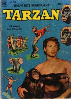 Dell Tarzan VF+ Golden Age Jungle Comics , not Signed Colt 45, Real Movies, Old Movies, Caricature, Comic Book Covers, Comic Books, Shoulder And Arm Workout, Tarzan Movie, Old Shows
