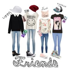 School friends by mermaid-mj on Polyvore featuring polyvore, fashion, style, Essentiel, Givenchy, Yves Saint Laurent, New Look, Eugenia Kim, Converse, Karl Lagerfeld, Halogen, Casetify, The Small Print., Vans, adidas and clothing