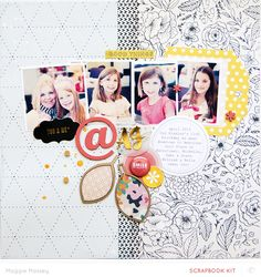#papercrafting #scrapbooking #layout - Blog: Video | Mixing Patterned Paper to Anchor a Layout with Maggie Massey - Scrapbooking Kits, Paper & Supplies, Ideas & More at StudioCalico.com!