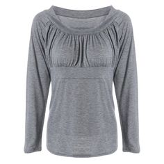 Simple Frilling Pure Color Tee — 10.47 € ------------------------Size: 2XL Color: GRAY