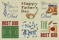 father's day cross stitch patterns - Google Search