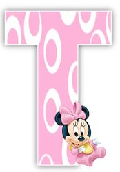 Alphabet Letters Design, Alphabet And Numbers, Minnie Png, Mickey Minnie Mouse, Baby Shower Clipart, Minnie Mouse Baby Shower, Paper Crafts For Kids, Girl First Birthday, Mickey And Friends