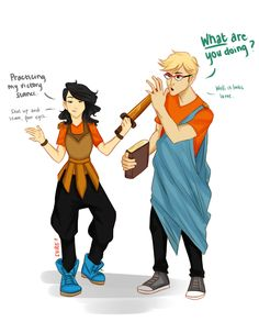 Percabeth kids by shireferhire>>>At first I thought it was Jason and Reyna, but I saw the credit and title.