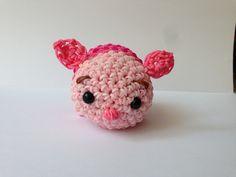 Porcînet en rainbow loom, inspiration Tsum tsum : Jeux, jouets par amigurumis-friends