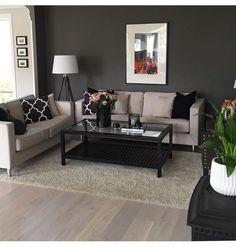 60 Optimum Black And Cream Living Room Design Ideas Black And Cream Living Room, Cream Living Rooms, Formal Living Rooms, Home Living Room, Apartment Living, Living Room Designs, Living Room Decor, Easy Home Decor, Cheap Home Decor