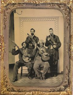 Chamber Orchestra, January 1865 (from the Jackie Napolean Wilson Collection) This quarter-plate tintype has three dated stamps on it ref. Antique Photos, Vintage Photographs, Vintage Photos, Old Pictures, Old Photos, Minstrel Show, Best Guitar Players, Bluegrass Music, Daguerreotype