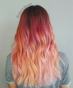 """374 Likes, 7 Comments - Hair Artist ▪ Fullerton, CA ♀ (@spectraltones) on Instagram: """"Remembering this pink sunset balayage! Her hair picked up the most beautiful tones of magenta,…"""""""