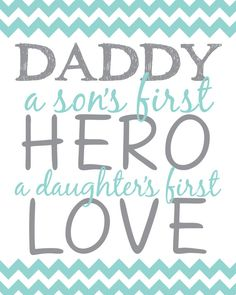Daddy A Son's First Hero A Daughter's First Love Wall Decor on Etsy, $1.00