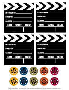 Free Film Inspired Movie Night Party Printables