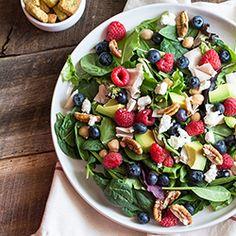 Berry and Pecan Spring Mix Salad Recipe