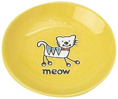 Pet Rageous Silly Kitty Saucer 25Ounce Yellow ** Click on the image for additional details.(This is an Amazon affiliate link and I receive a commission for the sales)