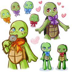 Turtle Tots by SpringSunshower.deviantart.com on @deviantART