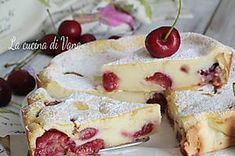 CLAFOUTIS ALLE CILIEGIE torta cremosa senza burro con tante ciliegie Best Italian Recipes, Sweet And Spicy, Finger Food, No Bake Cake, Ricotta, Cake Pops, French Toast, Cheesecake, Diet