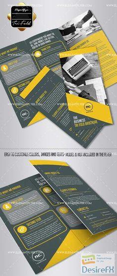 tri fold brochure template photoshop