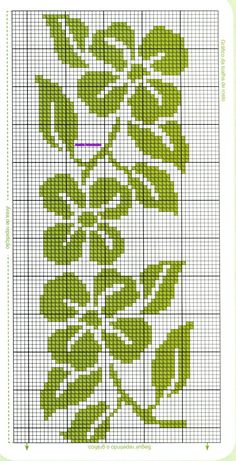 Anaide Ponto Cruz: Cross stitch charts for towels. Cross Stitch Bookmarks, Cross Stitch Borders, Cross Stitch Flowers, Cross Stitch Charts, Cross Stitch Designs, Cross Stitching, Cross Stitch Patterns, Tapestry Crochet Patterns, Crochet Edging Patterns
