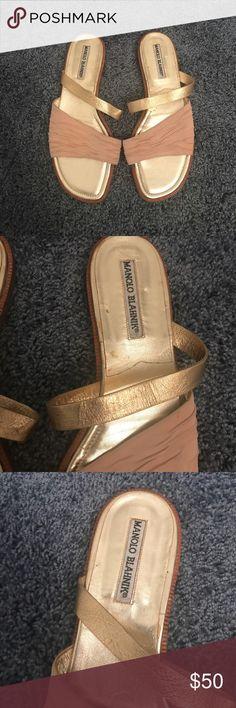 Manolo Blahnik Flat Slip On Sandals Manolo Blahnik Flat Slip On Sandals Manolo Blahnik Shoes Sandals