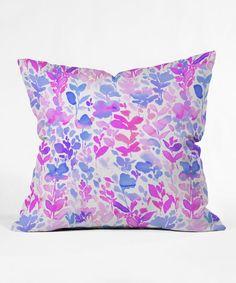 Jacqueline Maldonado Purple Flirt Throw Pillow