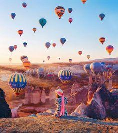 Rus fotoğrafçının objektifinden büyüleyici Kapadokya