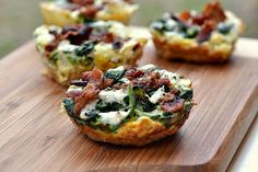 25 Big Game Appetizers: Turkey Bacon Quiche by The Realistic Nutritionist