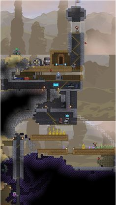 Starbound house. I love the constant sandstorms