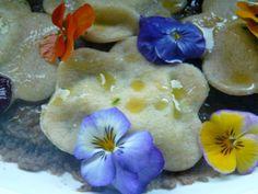 I miei ravioli fiorellino con le viole Il giardino nel piatto