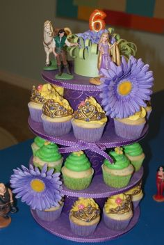 Tangled cupcake tower By SweetsObsession on CakeCentral.com