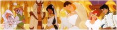 Robin Hood & Maid Marian, Aladdin & Jasmine, Cinderella & Prince Charming, Ariel & Prince Eric