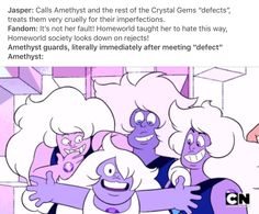 Ok I love Jasper, but that doesn't change the fact that she wasn't the nicest gem.