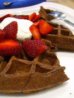 Chocolate Waffles. These were so good! I will be making these again for sure!