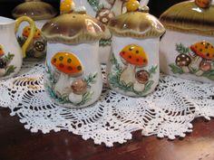 Vintage Merry Mushroom Salt and Pepper Shakers