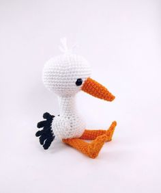 Solly the Stork amigurumi pattern by Theresas Crochet Shop
