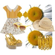 """yellow summer"" by dahliafahrian on Polyvore"