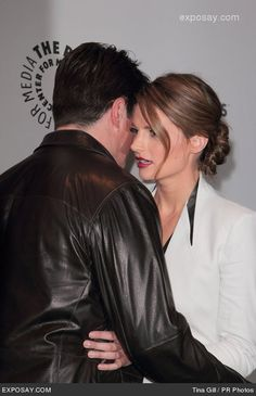 with Stana Katic at Paley Center appearance for Castle Castle Abc, Castle 2009, Castle Series, Castle Tv Shows, Nathan Fillion, Stana Katic, Mejores Series Tv, Richard Castle, Castle Beckett